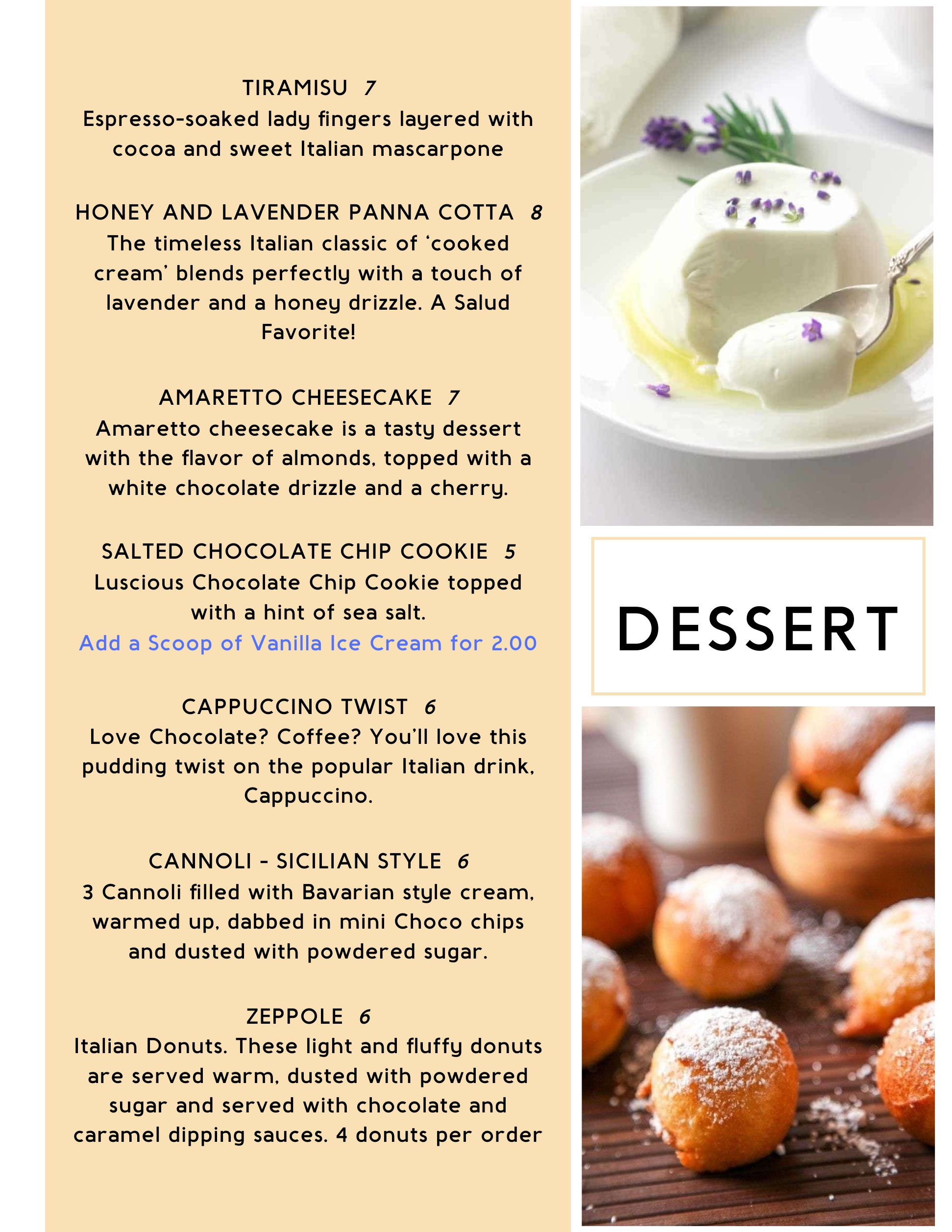 Dine In Dessert