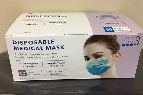 Level 3 Disposable Medical Mask ($.45/EA)