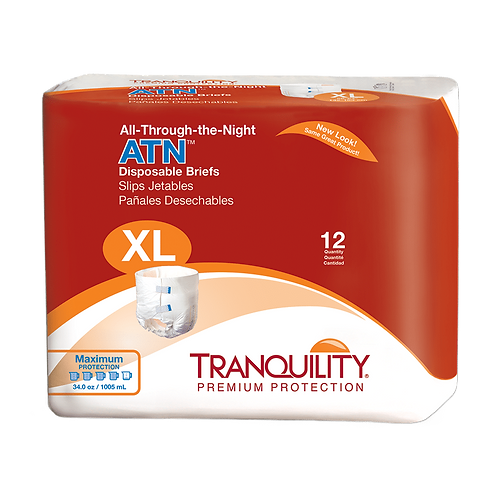 Tranquility ATN (All-Through-The-Night) Disposable Brief, XL - 2187