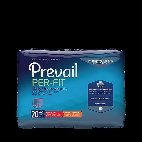 Prevail PER-FIT® Men's Protective Underwear, L - PFM-513; 4 bgs of 18: 72CS