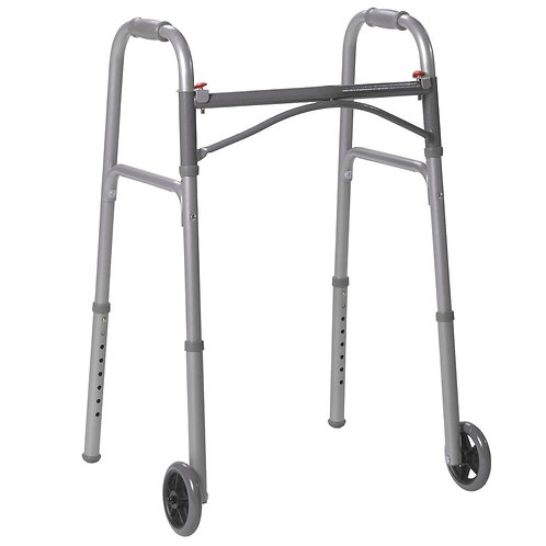 """Competitive Edge 2-Button Junior Walker with 5"""" Wheels"""