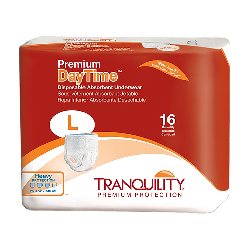 Tranquility Premium DayTime Disposable Absorbent Underwear, Large - 2106