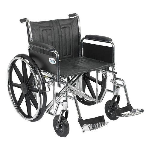 "Sentra 22"" EC Heavy Duty Wheel Chair"