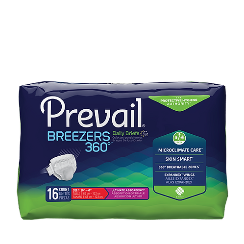 Prevail Breezers Tape Tab Briefs X-Large - PVB-014/1 CASE