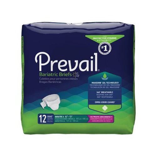 Prevail Bariatric Breezers Tape Tab Briefs 3X-Large - PVB-094, CASE