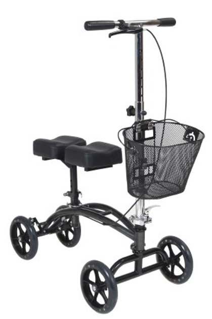 Dual Pad Steerable Knee Walker with Basket from Drive