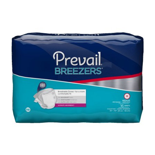 Prevail Breezers Tape Tab Briefs, Large - PVB-013/2 CASE
