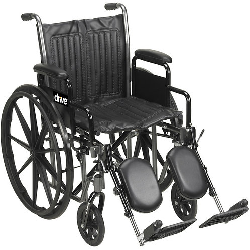 "Drive 18"" Silver Sport II Wheel Chair"