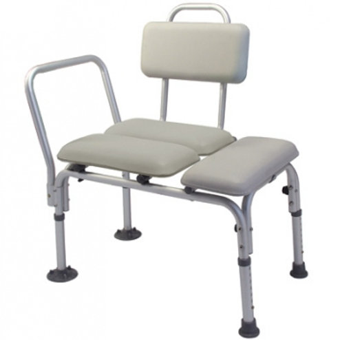 Lumex- Padded Commode Transfer Bench-7955A