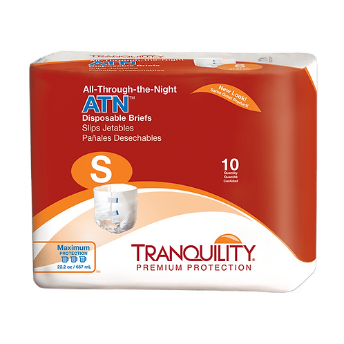 Tranquility ATN (All-Through-The-Night) Disposable Brief, S - 2184