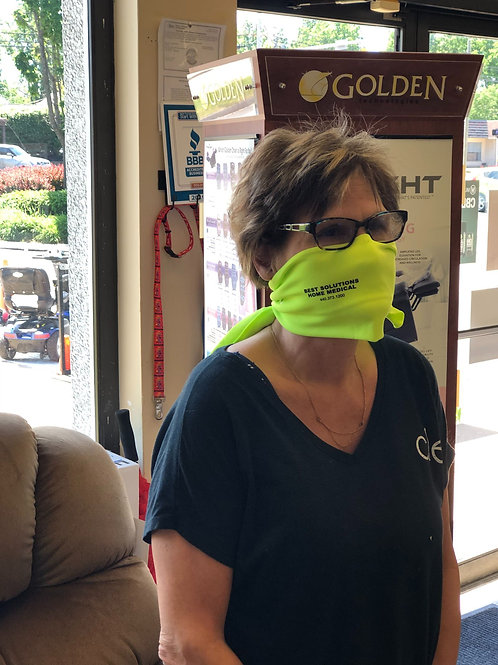 Face Cooling Mask Neon Green