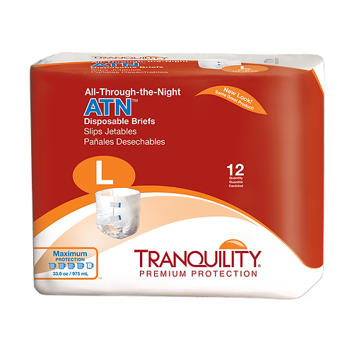 Tranquility ATN (All-Through-The-Night) Disposable Brief, L - 2186