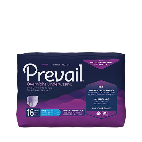 Prevail Women's Overnight Incontinence Underwear, XL- PWX-514; 4 bags of 14 (56)