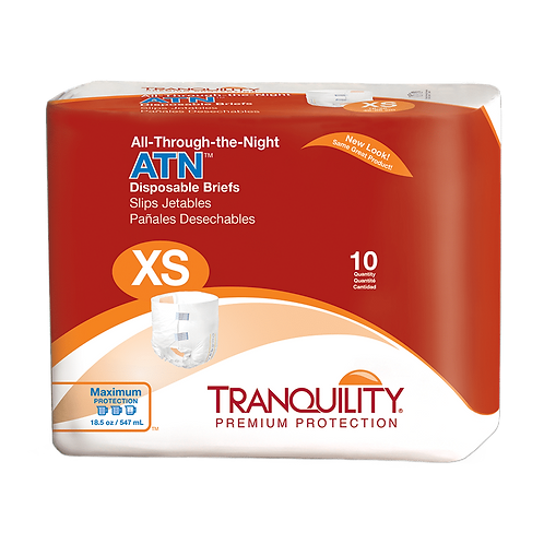 Tranquility ATN (All-Through-The-Night) Disposable Brief, XS - 2183