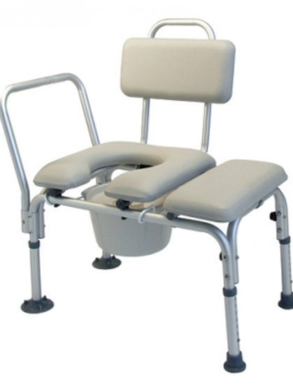 Lumex-Padded Commode Transfer Bench, with pail and cover-7956A