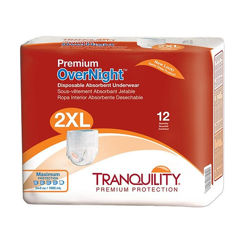 Tranquility Premium OverNight Disposable Absorbent Underwear, 2X-Large - 2118