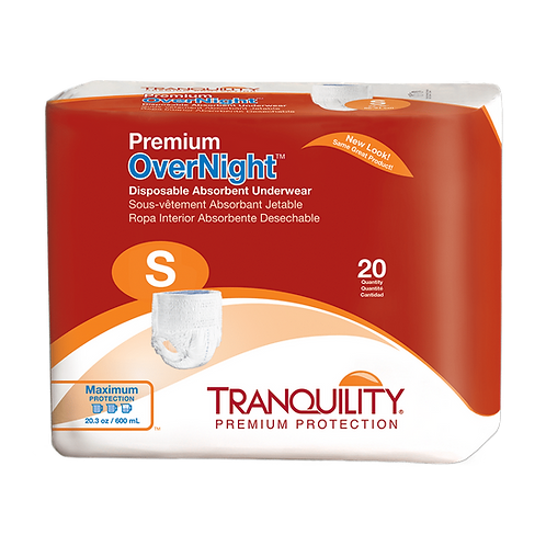 Tranquility Premium OverNight Disposable Absorbent Underwear, Small - 2114