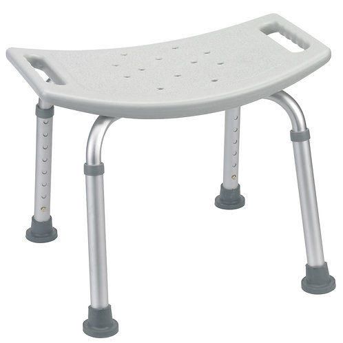 Deluxe Aluminum Shower Bench without Back - Rose Health Care #RTL12203KDR