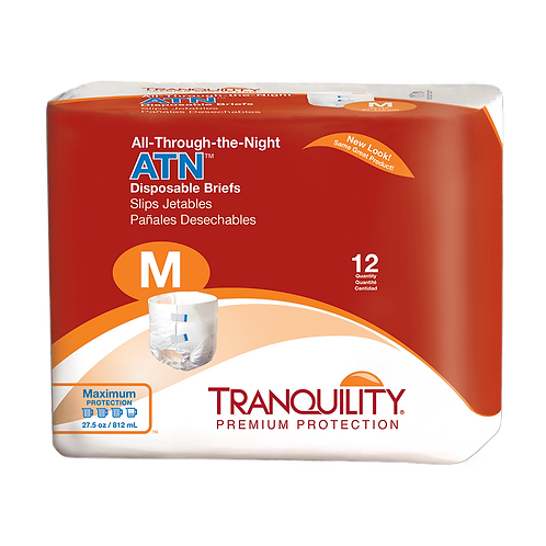Tranquility ATN (All-Through-The-Night) Disposable Brief, M - 2185