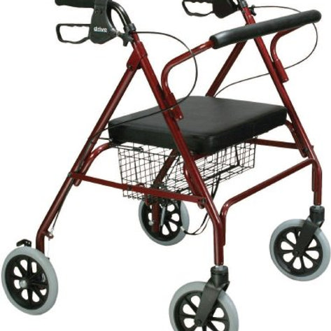 Bariatric 4 Wheel Rollator Go-Lite - Red