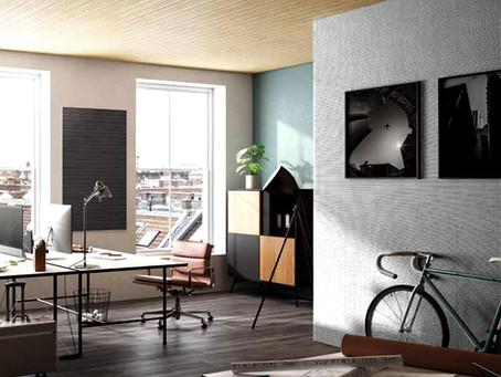 Interiores sofisticados: Facilidade do sistema CLIC e o design inovador de revestimentos acústicos