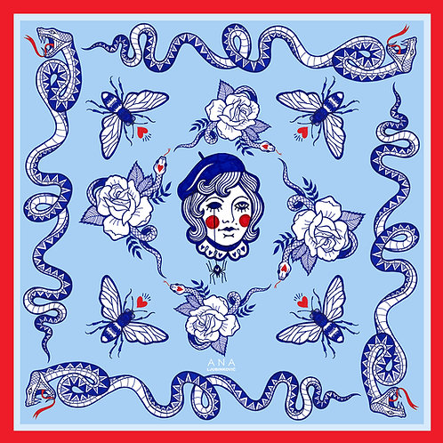 Blue POISON Bandana