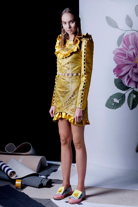 Ana Ljubinković SS 19 with ABO shoes, model Bojana Filipović from Scout