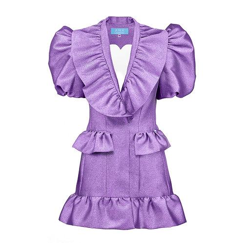 SWEETHEART Blazer Dress in Violet