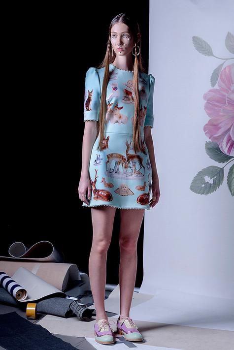 Ana Ljubinković SS 19 with ABO shoes, model Lola Kostić