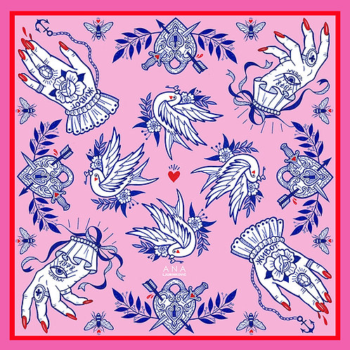 Pink LUCKY Bandana