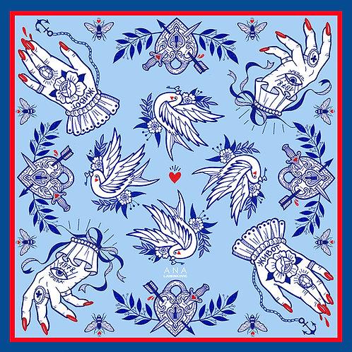 Blue LUCKY Bandana