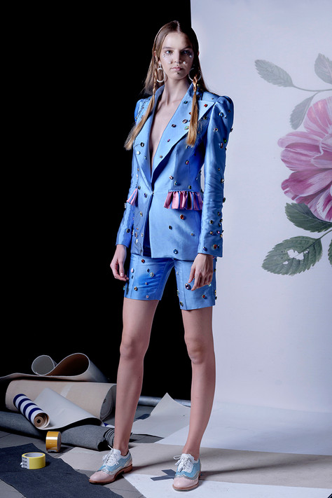 Ana Ljubinković SS 19 with ABO shoes, model Una Đorđević from Scout