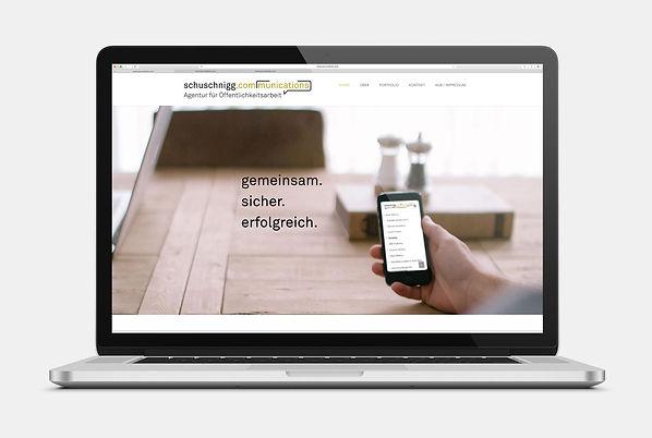 Schuschnigg Communications Webseite Design