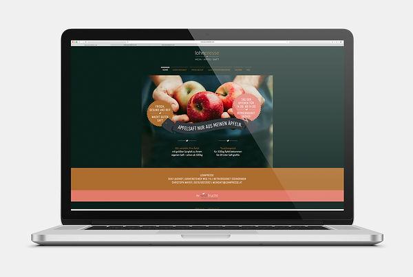 Lohnpresse Waldviertel Webseite Design