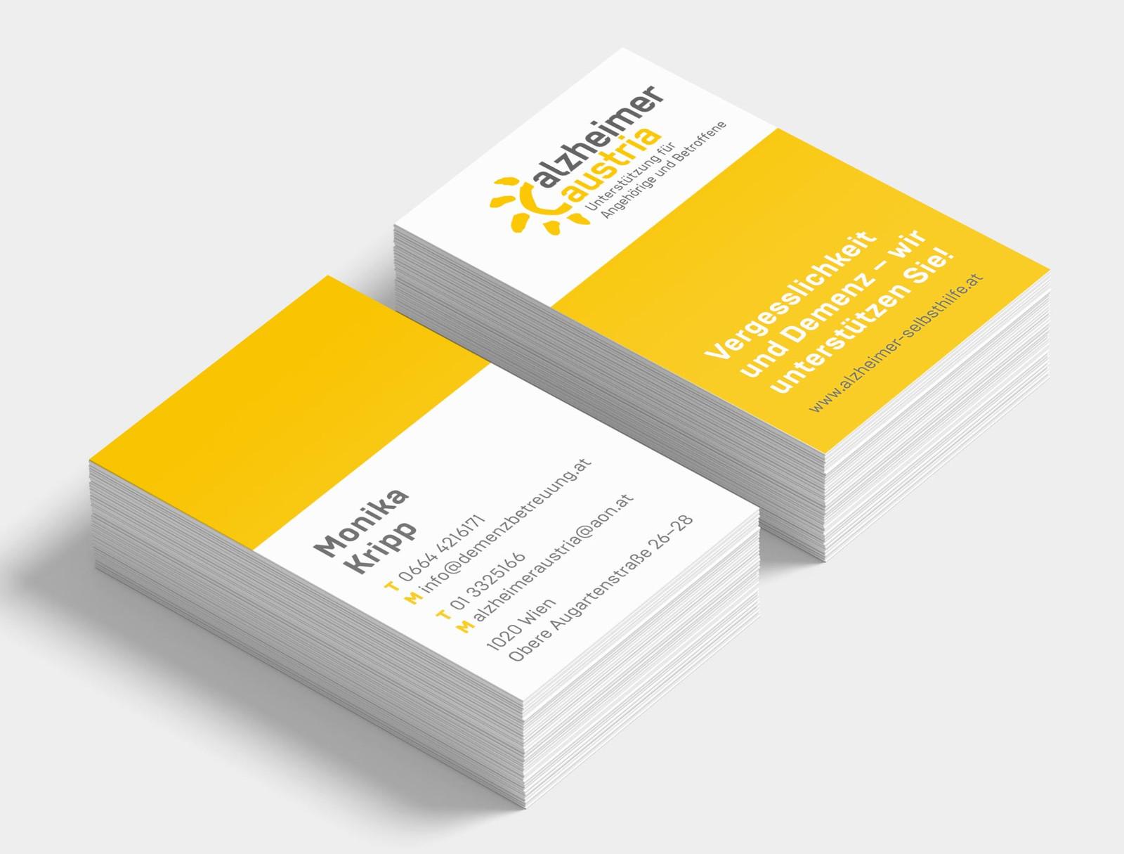 Alzheimer Austria Visitenkarten Und Folder