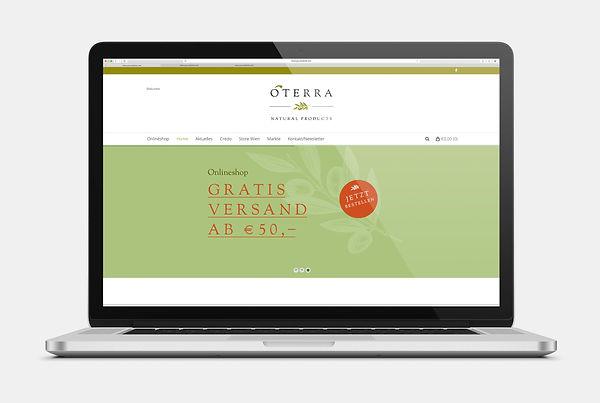 OTerra Olivenöl Webseite Design
