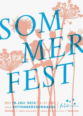 Sommerfest Kettenbrückengasse / Plakatgestaltung