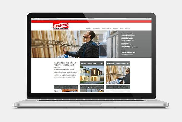 Glabischnig Baucenter Spittal Webseite Design