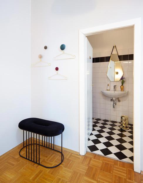 Projekt Ordination 1010 Wien: Garderobe/Patienten-Toilette