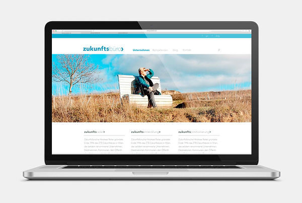 Zukunftsbüro Andreas Reiter Webseite Design