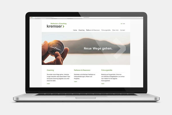 Kremser Coaching Webseite Design