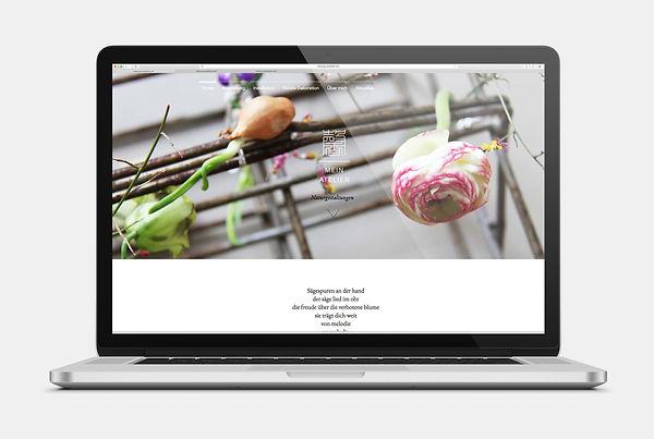 mein atelier Blumenkunst Webseite Design