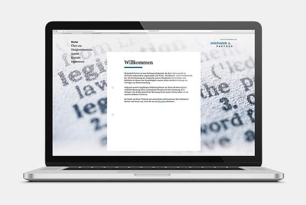 Michalek und Partner Webseite Design