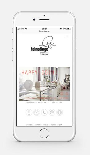 feinedinge / Drucksachen und Webseite für eine Porzellanmanufaktur