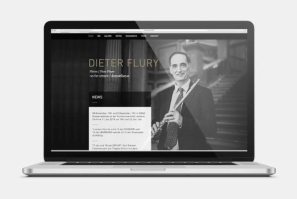 Dieter Flury Flötist Webseite Design