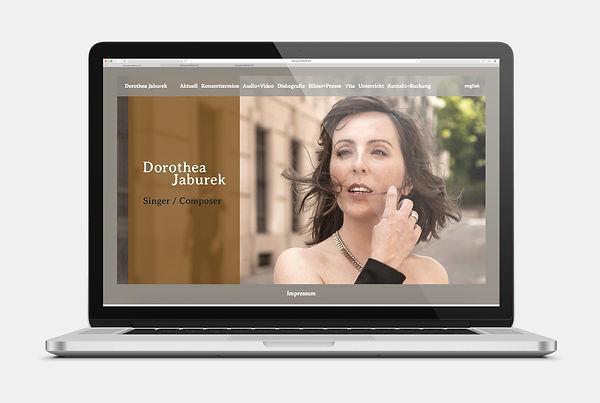 Dorothea Jaburek Sängerin Webseite Design