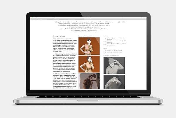 Marion Porten Webseite Design