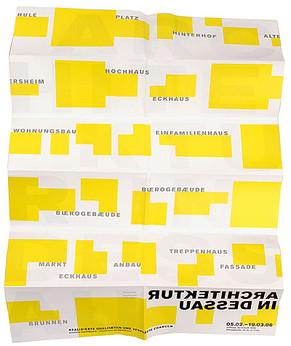 Architektur in Dessau / Ausstellungsgestaltung + Print