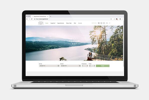 Kuglerhof Seeboden Webseite Design