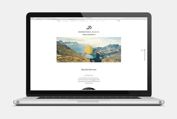 Kraftmoment Dorothee Dukek Webseite Design